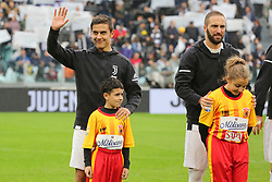 November 5, 2017 - Turin, Italy - Paulo Dybala (left) and Gonzalo Higuain (right) of Juventus FC before the Serie A football match between Juventus FC and Benevento Calcio on 05 November 2017 at Allianz Stadium in Turin, Italy. (Credit Image: © Massimiliano Ferraro/NurPhoto via ZUMA Press)