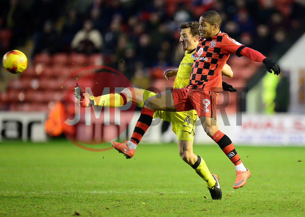 Tom Lockyer of Bristol Rovers battles for the ball with Simeon Jackson of Walsall - Mandatory by-line: Alex James/JMP - 21/01/2017 - FOOTBALL - Banks's Stadium - Walsall, England - Walsall v Bristol Rovers - Sky Bet League One