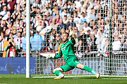 Bristol Rovers substitute goalkeeper Steve Mildenhall during the Vanarama Conference Final between Bristol Rovers FC and Grimsby Town FC at Wembley Stadium, London, England on 17 May 2015. Photo by Shane Healey.