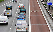 M4 MOTORWAY LONDON. The M4 bus lane, which runs from Heathrow to the capital, is to be scrapped. Next week Transport Secretary Philip Hammond will announce that the lane will be suspended. 1st October 2010..