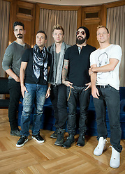 The Backstreet Boys in Madrid. <br /> The Backstreet Boys,  (L-R) Kevin Richardson, Howie Dorough, Nick Carter, A.J. Maclean and Brien Littrell visit Spain to celebrate their 20th anniversary. The group that revolutionised a decade has been reunited to celebrate their 20th anniversary in the music world, Madrid, Spain, Tuesday, 12th November 2013. Picture by DyD Fotografos / i-Images<br /> SPAIN OUT