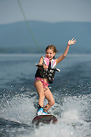 Waterskiing on Lake Winnipesaukee.  ©2012 Karen Bobotas Photographer
