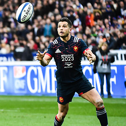 Brice Dulin of France during the RBS Six Nations match between France and Wales at Stade de France on March 18, 2017 in Paris, France. (Photo by Anthony Dibon/Icon Sport)
