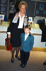 CLARA FURSE Chief Executive of the London Stock Exchange and her son RALPH FURSE at a performance by the London Childrens Ballet of 'The Little Princess' at The Peacock Theatre, Portugal Street, London WC2 on 19th May 2005.<br />