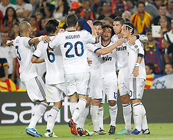 07-10-2012 VOETBAL: BARCELONA - REAL MADRID: BARCELONA<br /> Real Madrids Cristiano Ronaldo goal // during during the Spanish Primera Division 7th round match between Barcelona FC and Real Madrid CF at Camp Nou, Barcelona<br /> ***NETHERLANDS ONLY***<br /> ©2012-FotoHoogendoorn.nl-Cesar Cebolla