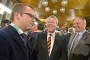 Nederland, Arnhem, 18-3-2015Uitslag provinciale staten verkiezingen in het provinciehuis.Lijsttrekkers CDA (links) en VVD (midden).Foto: Flip Franssen