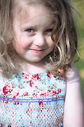 portrait of a 3 year old girl