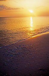 Southwestern Florida:  Sunset at the beach, Sanibel and Captiva Islands.