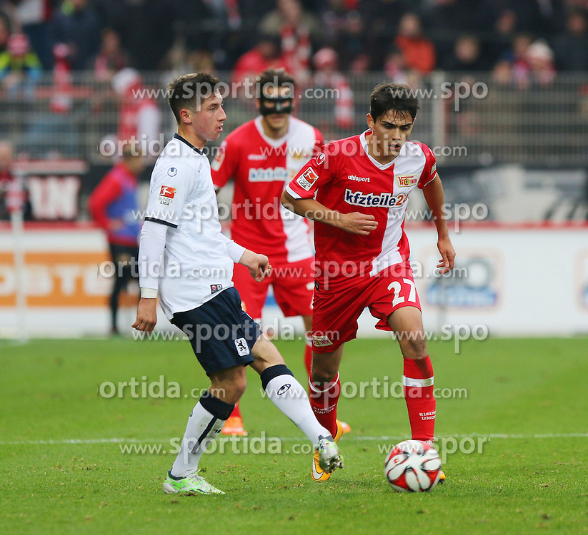 22.11.2014, Alte F&ouml;rsterei, Berlin, GER, 2. FBL, 1. FC Union Berlin vs TSV 1860 Muenchen, 14. Runde, im Bild Eroll Zejnullahu (1. FC Union Berlin) gewinnt den Zweikampf // SPO during the 2nd German Bundesliga 14th round match between 1. FC Union Berlin and TSV 1860 Muenchen at the Alte F&ouml;rsterei in Berlin, Germany on 2014/11/22. EXPA Pictures &copy; 2014, PhotoCredit: EXPA/ Eibner-Pressefoto/ Hundt<br /> <br /> *****ATTENTION - OUT of GER*****