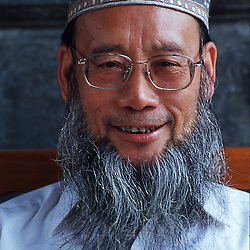 Chinese muslim man in Xian China.