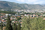 View over the city. Mostar. Bosnien. Eastern Europe.