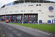 External general view the of University of Bolton Stadium. EFL Sky Bet League 1 match between Bolton Wanderers and Rochdale at the University of  Bolton Stadium, Bolton, England on 19 October 2019.