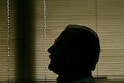 Belo Horizonte_MG, Brasil...Silhueta do ex-ministro Paulo Roberto Haddad...The silhouette of the ex-minister Paulo Roberto Haddad...Foto: LEO DRUMOND / NITRO