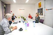 DELFT, 19-05-2020 , Koningin Maxima bezoekt Voedselbank Delft.<br /> <br /> Koningin Maxima tijdens een werkbezoek aan het distributiecentrum van de Voedselbank Delft. Het bezoek vond plaats in het kader van de uitbraak van het coronavirus (COVID-19).<br /> <br /> Queen Maxima during a working visit to the distribution center of the Food Bank Delft. The visit took place in the context of the coronavirus outbreak (COVID-19).