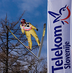 Robert Kranjec of Slovenia competes during Flying Hill Individual Qualifications at 1st day of FIS Ski Flying World Championsghips Planica 2010, on March 18, 2010, Planica, Slovenia.  (Photo by Vid Ponikvar / Sportida)