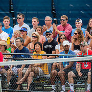 August 21, 2016, New Haven, Connecticut: <br /> Fans watch the action during Day 3 of the 2016 Connecticut Open at the Yale University Tennis Center on Sunday, August  21, 2016 in New Haven, Connecticut. <br /> (Photo by Billie Weiss/Connecticut Open)