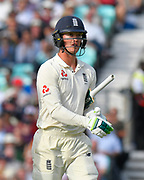 Keaton Jennings of England during day 3 of the 5th test match of the International Test Match 2018 match between England and India at the Oval, London, United Kingdom on 9 September 2018.