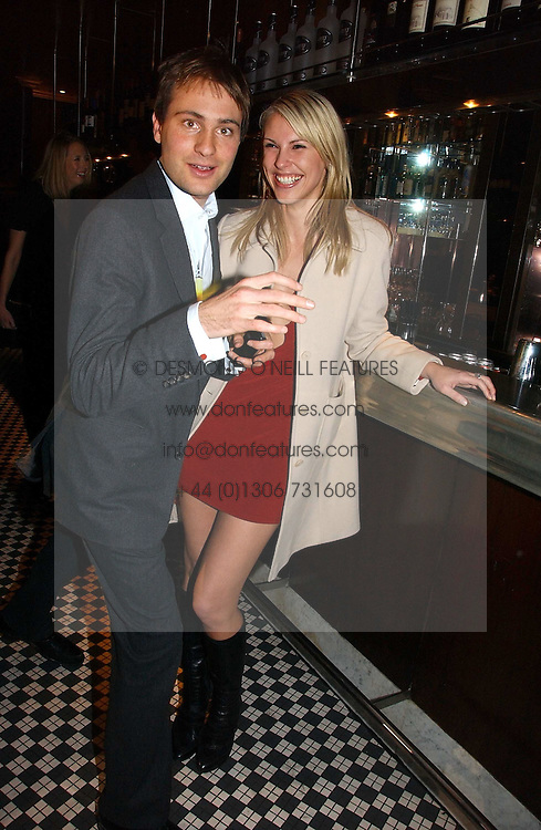 PETRINA KHASHOGGI and BEN GOLDSMITH at The Christmas Cracker - an evening i aid of the Starlight Children's Charity held at Frankies, Knightsbridge on 13th December 2006.<br /><br />NON EXCLUSIVE - WORLD RIGHTS