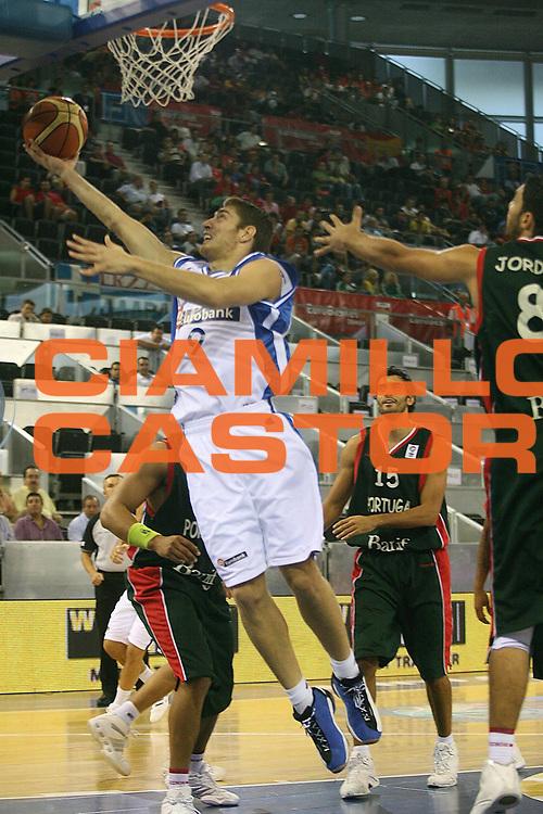 DESCRIZIONE : Madrid Spagna Spain Eurobasket Men 2007 Qualifying Round Grecia Portogallo Greece Portugal <br /> GIOCATORE : Michalis Pelakanos <br /> SQUADRA : Grecia Greece <br /> EVENTO : Eurobasket Men 2007 Campionati Europei Uomini 2007 <br /> GARA : Grecia Portogallo Greece Portugal <br /> DATA : 11/09/2007 <br /> CATEGORIA : Tiro <br /> SPORT : Pallacanestro <br /> AUTORE : Ciamillo&amp;Castoria/A.Vlachos <br /> Galleria : Eurobasket Men 2007 <br /> Fotonotizia : Madrid Spagna Spain Eurobasket Men 2007 Qualifying Round Grecia Portogallo Greece Portugal <br /> Predefinita :