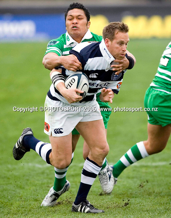 Auckland's Brent Ward during the Air New Zealand Cup week 1 rugby match between Manawatu and Auckland at FMG Stadium, Palmerston North, on Saturday 29 July 2006. Auckland won 41-10. Photo: Aaron Smale/PHOTOSPORT<br /> <br /> <br /> 290706 npc nz union