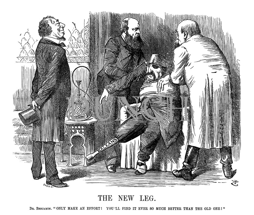 "The New Leg. Dr. Benjamin.""Only make an effort! You'll find it ever so much better thant he old one!"""