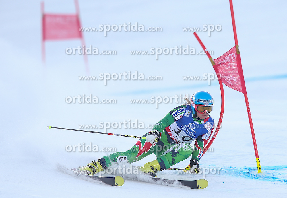 14.02.2013, Planai, Schladming, AUT, FIS Weltmeisterschaften Ski Alpin, Riesenslalom, Damen, 1. Durchgang, im Bild Tanja Poutiainen (FIN) // Tanja Poutiainen of Finland in action during 1st run of the ladies Giant Slalom at the FIS Ski World Championships 2013 at the Planai Course, Schladming, Austria on 2013/02/14. EXPA Pictures © 2013, PhotoCredit: EXPA/ Johann Groder