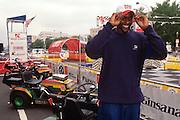 "WASHINGTON, DC - September 11: Washington Wizards Chris Webber participates in K-Mart's ""Race Against Drugs"" in Washington, DC. September 11, 1997  (Photo RIchard Ellis)"