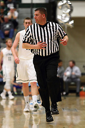 20 February 2016:  Referee Mike Skrabis during an NCAA men's division 3 CCIW basketball game between the Elmhurst Bluejays and the Illinois Wesleyan Titans in Shirk Center, Bloomington IL