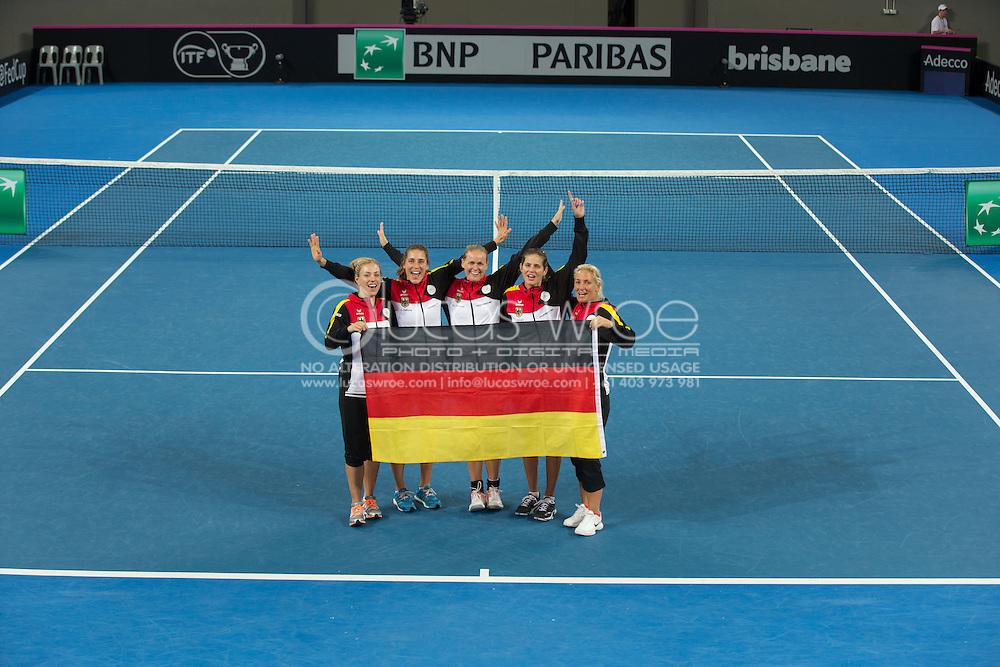 Germany Team Players, April 20, 2014 - TENNIS : Fed Cup, Semi-Final, Australia v Germany. Pat Rafter Arena, Brisbane, Queensland, Australia. Credit: Lucas Wroe