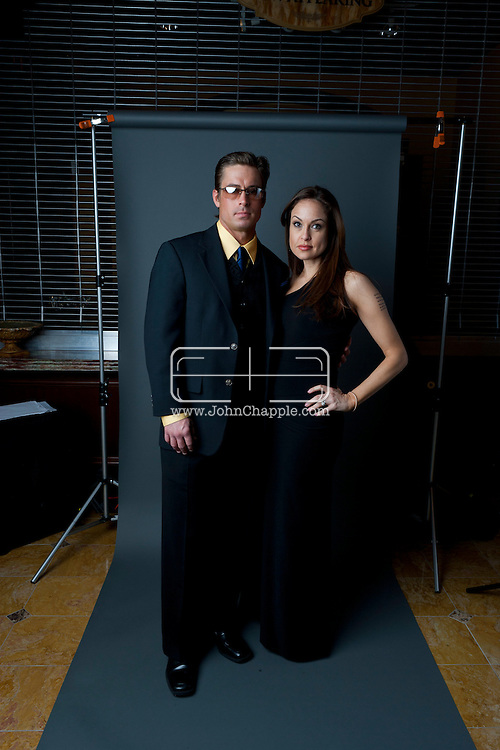 24th February 2011. Las Vegas, Nevada.  Celebrity Impersonators from around the globe were in Las Vegas for the 20th Annual Reel Awards Show. Pictured is Tatiana Turan and Ryan Fraley as Angelina Jolie and Brad Pitt. Photo © John Chapple / www.johnchapple.com..