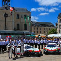#92, Porsche Motorsport, Porsche 911 RSR (2017), driven by: Michael Christensen, Kevin Estre, Dirk Werner, #91, driven by: Richard Lietz, Frederic Makowiecki, Patrick Pilet, 24 Heures Du Mans Scruntineering, 12/06/2017,