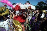 Merry Pranksters at Jerry Garcia's memorial, Wavy Gravy's Hog Farm, California. 1995
