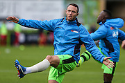 Forest Green Rovers Rhys Murphy(39) warming up during the Vanarama National League match between Forest Green Rovers and Barrow at the New Lawn, Forest Green, United Kingdom on 1 October 2016. Photo by Shane Healey.