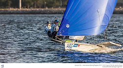 Aquece Rio – International Sailing Regatta 2015 is the second sailing test event in preparation for the Rio 2016 Olympic Sailing Competition. Held out of Marina da Gloria from 15-22 August, the Olympic test event welcomes more than 330 sailors from 52 nations in Rio de Janeiro, Brazil.<br /> <br /> Credit Jesus Renedo/Sailing Energy