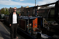 UK ENGLAND LONDON 30APR16 - London Canal boat resident Duncan Stevens on his boat, the 'Gremlin' near Haggerston, east London.<br /> <br /> <br /> <br /> jre/Photo by Jiri Rezac<br /> <br /> <br /> <br /> © Jiri Rezac 2016