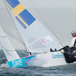 2012 Olympic Games London / Weymouth<br /> Loof Fredrik, Salminen Max, (SWE, Star)