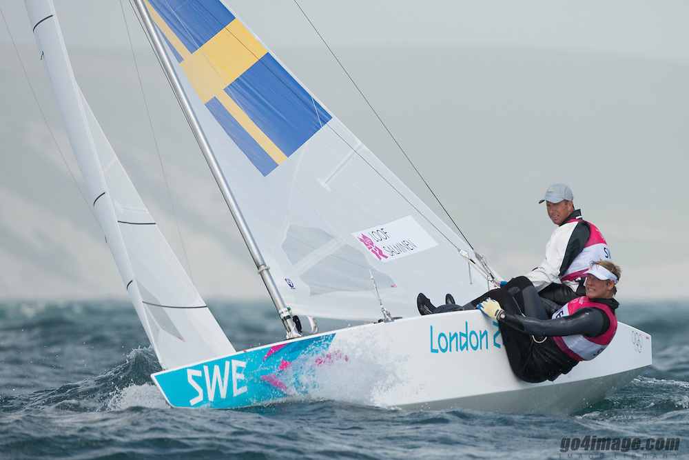 2012 Olympic Games London / Weymouth<br /> Loof Fredrik, Salminen Max, (SWE, Star)