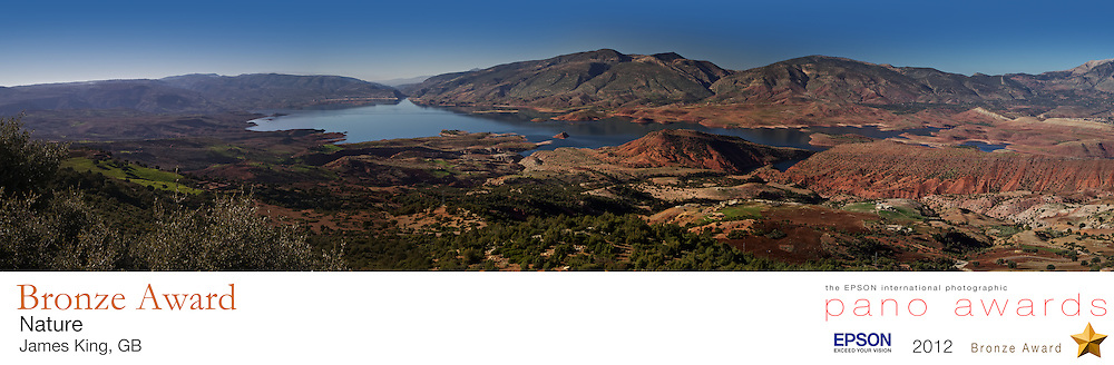 Lake Bin El Ouidane, Morocco. <br /> The most perfect panoramic scenery far away from the hustle and bustle of city life.<br /> <br /> The EPSON International Pano Awards 2012<br /> BRONZE AWARD<br /> Amateur - Nature (including landscapes)<br /> Score: 70