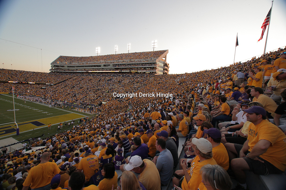 27 September 2008:  Pregame activities at the Mississippi State Bulldogs versus the LSU Tigers game at Tiger Stadium in Baton Rouge, LA.