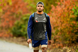 Will Genia prior to the session starting  - Ryan Hiscott/JMP - 08/11/2018 - RUGBY - Llanwern High School - Newport, Wales - Australia Rugby Training Session