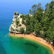 &quot;Kayaking at Miners Castle&quot;2<br /> Scenic Miners Castle during summertime at Pictured Rocks National Lake Shore in Munising Michigan!