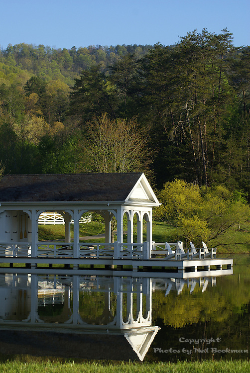 The boathouse at Blackberry Farm in Walland, TN.