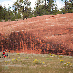 Zuni Mountain Bikepacking trip; fall 2014. Cabin 26 to the Red Rocks via McKenzie Ridge and back via Forest Road 50.