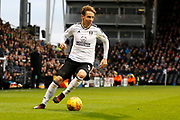 Fulham midfielder Stefan Johansen (8) during the EFL Sky Bet Championship match between Fulham and Barnsley at Craven Cottage, London, England on 23 December 2017. Photo by Andy Walter.