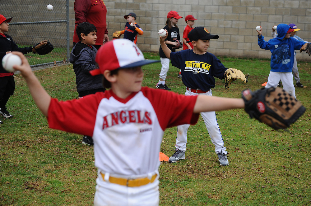 The first practice for the South Sunrise Little League A+ Trojans!