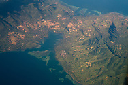 Indonesia from above aerial view