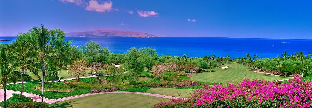 Wailea Golf Club, Championship, Gold, Golf Course, Maui, Hawaii, Panorama