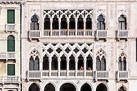 Italy, Venice. Palace at Canal Grande.