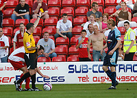 Photo: Steve Bond.<br />Walsall v Swansea City. Coca Cola League 1. 25/08/2007. Paul Anderson is booked