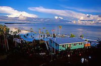 View of the sunset and ocean from Gizo, Solomon Islands